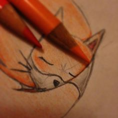 Little sketch made with colored pencils. ©Mélodie Dauger. All rights reserved