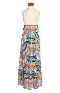 Truly Me Mixed Media Maxi Dress (Big Girls) | Nordstrom