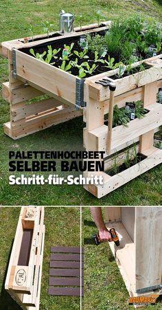 Build yourself a Raised Bed Pallet DIY Ideas Garden .-Bauen Sie sich eine Hochbeetpalette DIY Ideen Garten – diy pallet creations Build yourself a raised bed palette of DIY ideas garden -
