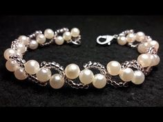 Elegant Pearl Beaded Bracelet, Wedding jewelry Super Easy Tutorial - YouTube