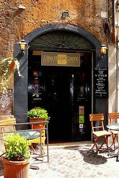 Rome, Italy- Big  Hilda caffe