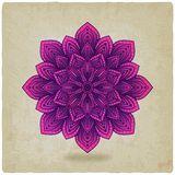 Circular pattern mandala old background Royalty Free Stock Image