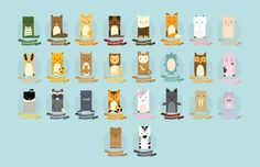 How cute is this animal alphabet?  Abby Putinski | Illustration & Graphic Design