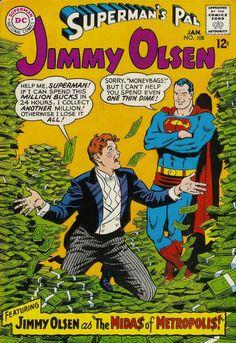 COMIC superman pal jimmy olsen 108 #comic #cover #art
