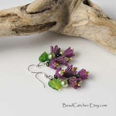Lilac spring earrings by BeadCatcher on Etsy, $35.00