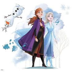 Add favorite characters to your space with Frozen II Giant Peel and Stick Wall Decals by RoomMates. This wall sticker set is a fun and creative way to. Frozen Inspired Bedroom, Frozen Bedroom, Wall Stickers, Vinyl Decals, Frozen Wall Decals, 2 Birthday, Elsa, Wall Shelf Decor, Disney Frozen 2