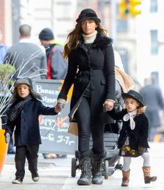 Camila Alves & Kids Manhattan Stroll #camilaalves, #favoritecelebfamilies