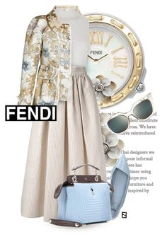 """Fendi Kisses"" by necyluv ❤ liked on Polyvore featuring Fendi"