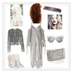 """""""Night out in silver"""" by lindsy-michelle-riley on Polyvore featuring Magda Butrym, STELLA McCARTNEY and Anna-Karin Karlsson"""