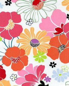 Sun-Kissed - Pop Art Flowers - White