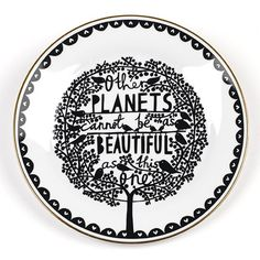 Rob Ryan Plate - Other Planets - Large - Milan Direct
