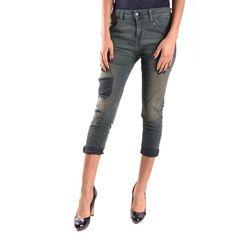 Women's Green Jeans, Trousers Women, Women's Trousers, Jeans Boyfriend, Jeans Pants, Bermuda Shorts, Capri Pants, Style Fashion, Cotton