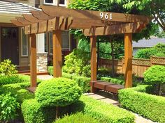 building arbors ideas | ... What to Consider When You Are Going to Build a pergola arbor designs - house numbers on arbor