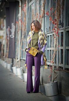 como usar ultra violet a cor de 2018 calça violeta