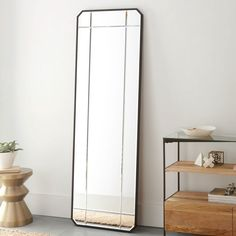 Antique Tiled Floor Mirror | Floor mirror, Tile flooring and Wall colors