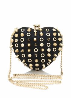 spiked heart shape clutch