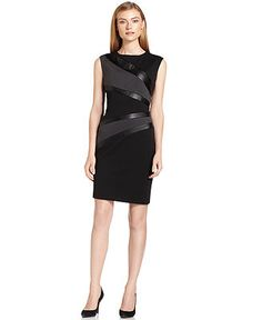Another hot number by CK! Work Fashion, Fashion Beauty, Womens Fashion, Calvin Klein Dress, Cool Outfits, Dresses For Work, Business Wear, Sheath Dresses, Window Shopping