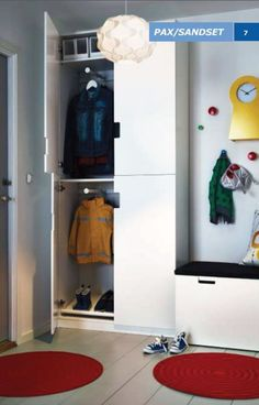 Check out our extensive range of STUVA children's storage solutions, including children's storage units. Find inspiration and ideas for your home. Ikea Hallway, Hallway Storage, Tall Cabinet Storage, Entryway, Ikea Stuva, Ikea Pax, Big Boy Bedrooms, Kids Bedroom, Armoire Pax Ikea