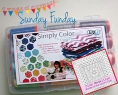 Start off the week by entering for your chance to win this fabulous Aurifil V and Co. Simply Color thread collection!   Go visit the Sunday Funday Giveaway hosted by Julie from 627handworks to enter! http://627handworks.com/2013/09/sunday-funday-giveaway-4/