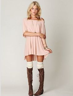 What are the best flat knee high brown lace up moccasin style boots? http://www.slant.co/topics/4607/~flat-knee-high-brown-lace-up-moccasin-style-boots Cute peach dress with white socks & brown boots