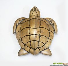 5.70 Inches Big Vintage Sea Ocean TURTLE Cabinet by ArtsofBrass