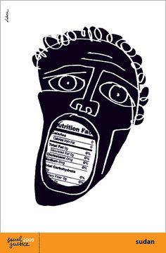 """""""Sudan"""" poster by Luba Lukova by Luba Lukova, via Flickr"""