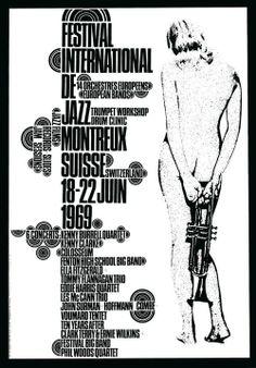 Affiche du Festival de Jazz de Montreux, 1969.