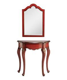 Demilune Table & Mirror Set