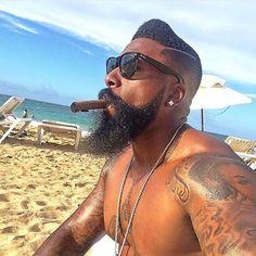 60 Beard Styles For Black Men - Masculine Facial Hair Ideas Black Men Beards, Handsome Black Men, Black Man, Beard Look, Sexy Beard, Beard Styles For Men, Hair And Beard Styles, Black Men Hairstyles, Haircuts For Men