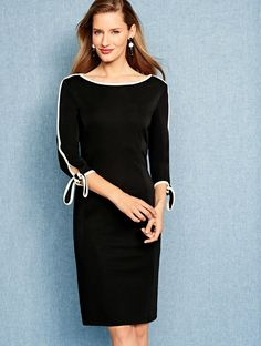 42bbf2c2063 A sophisticated spin on a simple LBD. Made of smooth jersey