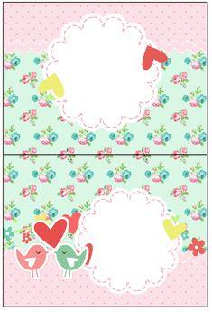 Uau! Veja o que temos para Cartão Agradecimento de Mesa Passarinho Vintage Rosa e Verde