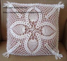 Archivo de álbumes Crochet Diy, Crochet Cross, Crochet Home, Crochet Motif, Vintage Crochet, Crochet Doilies, Crochet Pillow Cases, Crochet Cushion Cover, Crochet Cushions