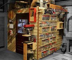 French Cleat Wall & Storage Loft