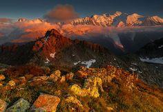 'Mont Blanc from Col de la Gliere'