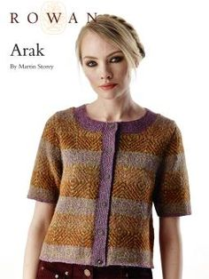 Arak Knit this beautiful fairisle cardigan,designed by Martin Storey and using the stunning yarn Felted Tweed (merino wool and alpaca). This knitting pattern is for the experienced knitter