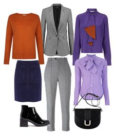 Terracota and Purple by natalia-minnigalimova on Polyvore featuring мода, Marco de Vincenzo, Hobbs, Joseph, Talie NK, Isabel Marant, A.P.C. and Ralph Lauren