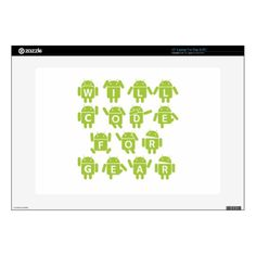 Will Code For Gear (Bugdroid Software Developer) Laptop Decals