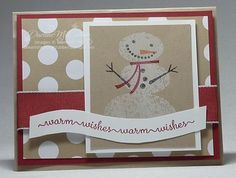 Love the Snow Day stamp set and building a fun snowman with all his accessories