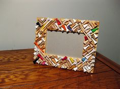 Golf tee picture frame