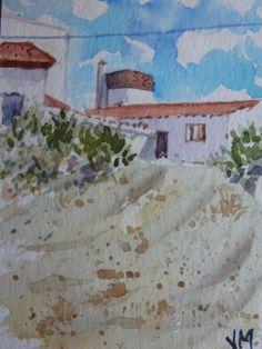 Mar de Ajó,Argentina, ACEO Card Original artwork in Watercolor, Miniature art  #Realism
