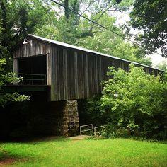 Euharlee Creek Covered Bridge in Euharlee, #Georgia.