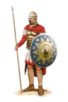 A member of the Domestici Equites, a Roman Imperial guard unit, Roman army during the Battle of Adrianople, 378 AD. Artwork by Tom Croft.