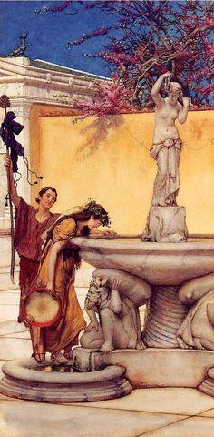 Between Venus and Bacchus by Sir Lawrence Alma-Tadema #art