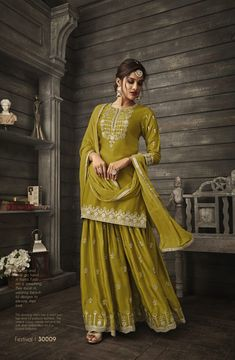 On Booking Buy Zoya designer festival exclusive partywear eid collection suit catalogue surat wholesaler best price at Wholesale Price. Pakistani Dress Design, Pakistani Suits, Pakistani Dresses, Indian Dresses, Shadi Dresses, Indian Suits, Punjabi Suits, Pakistani Sharara, Pakistani Clothing