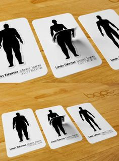 Personal Trainer Card | A befitting image graces the front of the business card of a personal trainer.