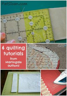 6 quilting tutorials from Martingale authors More