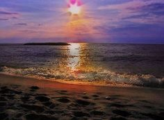 Sunset at Presque Isle State Park in Erie, Pennsylvania