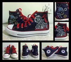 Steam Powered Giraffe Converse by ~kurohyoukage on deviantART kinda really want these!!!!!! Haha