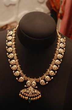 Indian Jewellery and Clothing: Beautiful diamond studded magaya mal from Sakhi fashions..