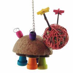 Chinchilla Hanging Toys - Doodlebug $9.75 Rabbit Toys, Pet Rabbit, Gerbil Toys, Chinchilla Toys, Diy Toys, Chinchillas, Pets, Inspiration, Bunny Toys